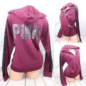 VS PINK BLING Full Zip Perfect Hoodie Sweatshirt
